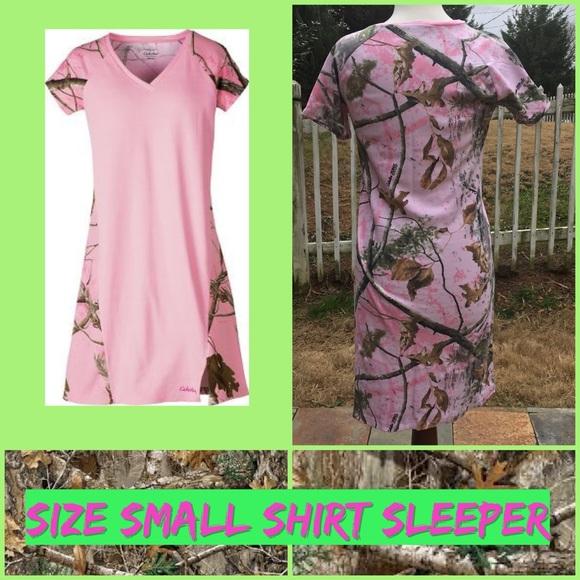 Cabela s Pink Camo Sleep Shirt Small NWT 07e258c09